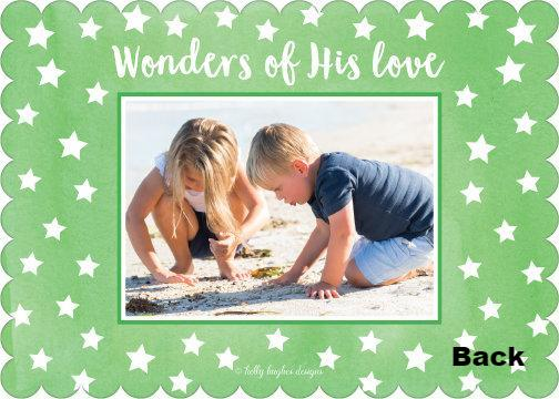 Wonders of His Love Holiday Photo Card