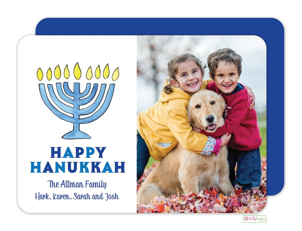 Hanukkah Holiday Photo Card