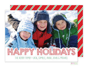 Snow Topped Holiday Photo Card