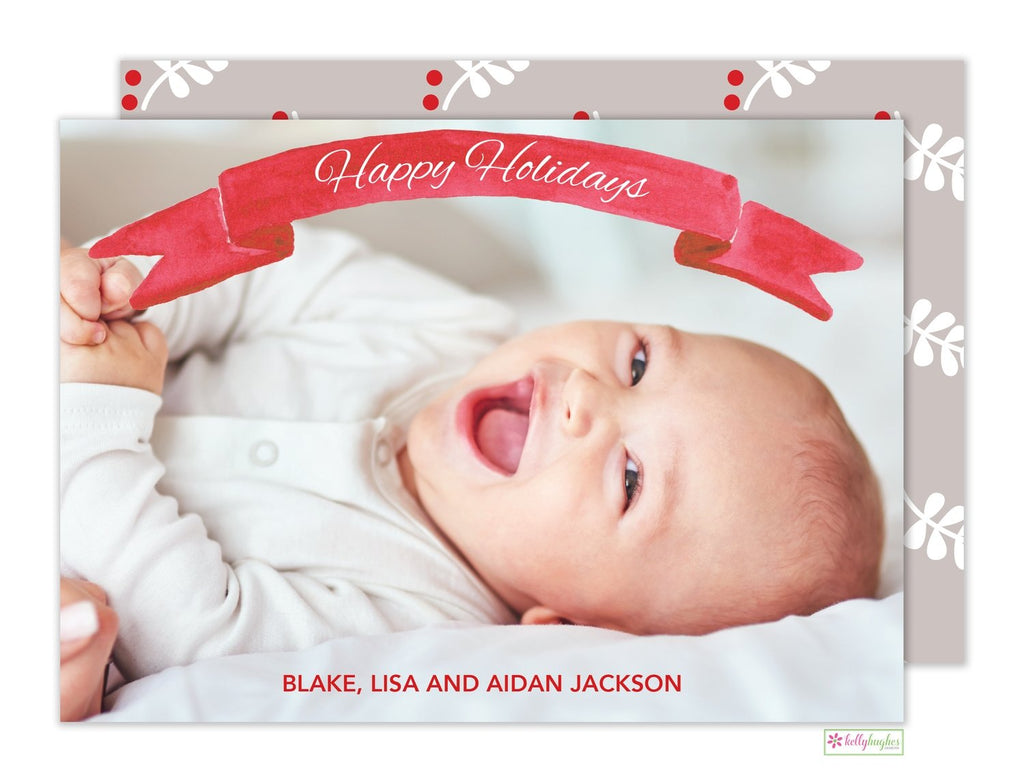 Banner Holiday Photo Card