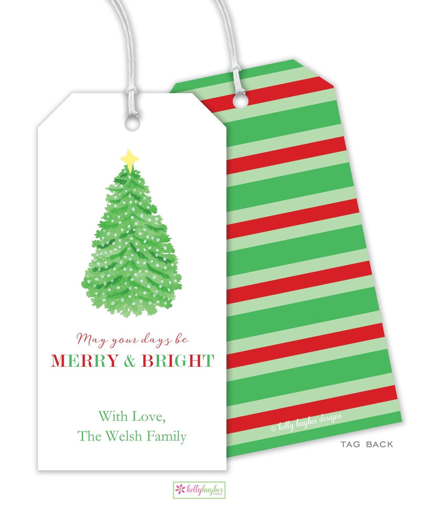 Merry & Bright Gift Tag