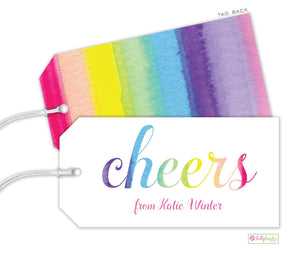 Rainbow Cheers Gift Tag