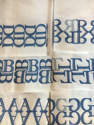 Haute Home Bodoni Monogram Towel