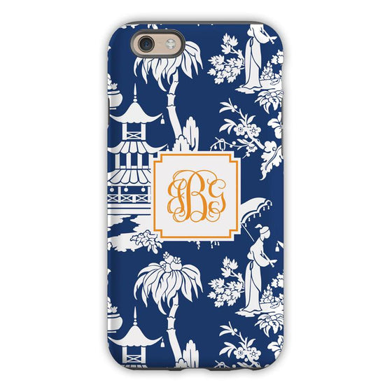 Pagoda Garden Navy Phone Case