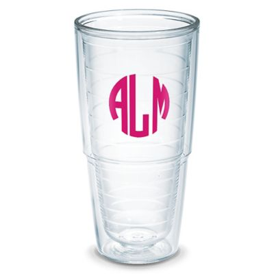 "Monogrammed 24oz ""Big T"" Tervis Tumblers (Clear)"