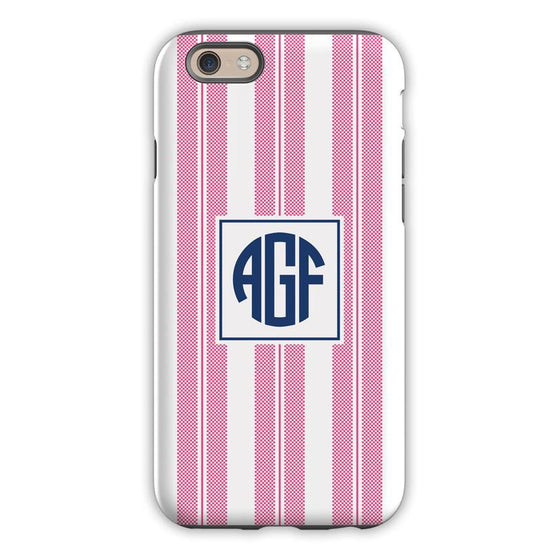 Vineyard Stripe Raspberry Phone Case