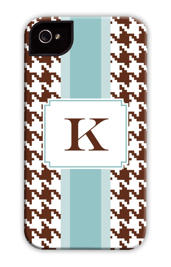 Hounds-tooth Bath Blue Stripe Phone Case