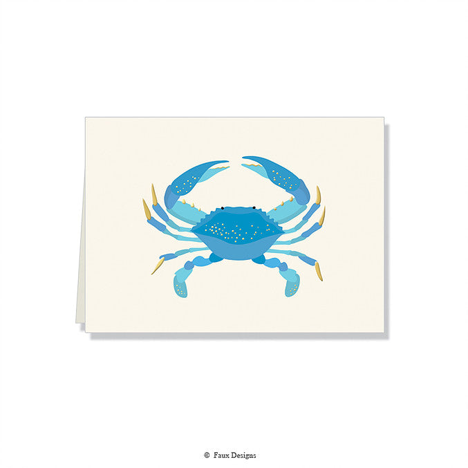 Blue Crab Folded Notes