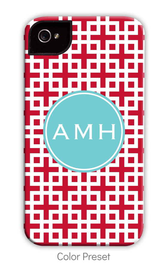 Lattice Red Phone Case
