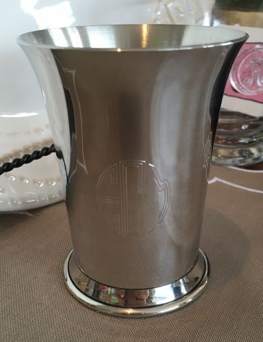 Engraved Pewter Julep Cup