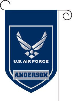 Monogrammed Air Force Garden Flag