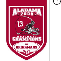 Monogrammed Alabama National Champs Garden Flag