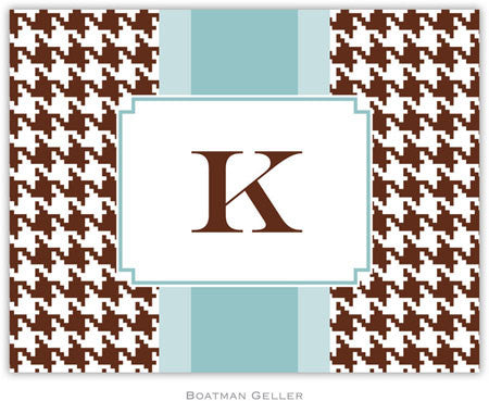 Alex Houndstooth Chocolate Foldover Note