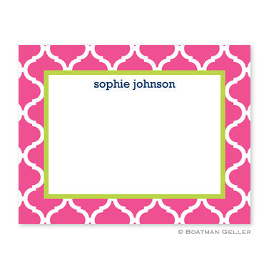 Ann Tile Raspberry Small Notecard