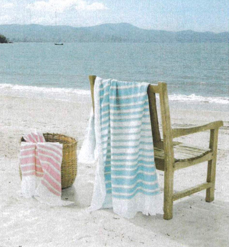 Monogrammed Turkish Stripe Beach Towel