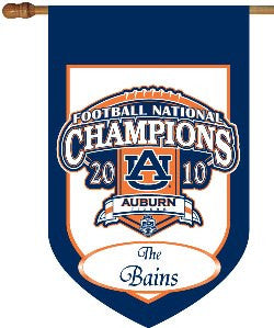 Monogrammed Auburn National Championship House Flag