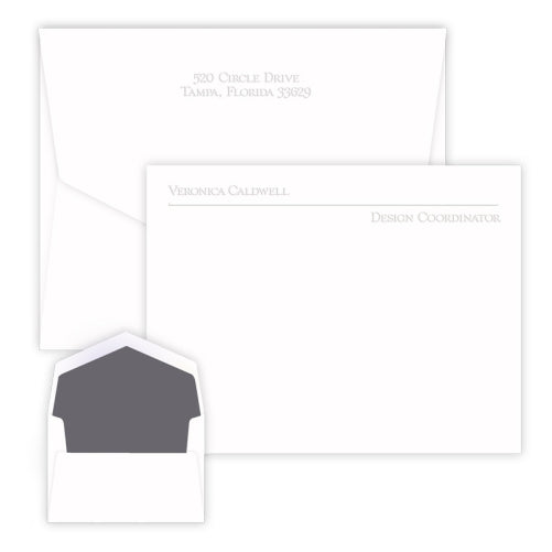 Avenue Embossed Flat Correspondence Card