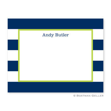Awning Stripe Navy Small Notecard