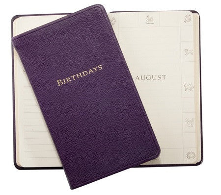Personalized Leather Birthdays Book