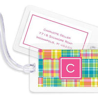 Madras Patch Bright Bag Tags Set