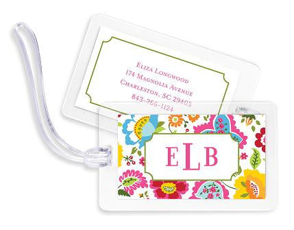 Bright Floral Bag Tags Set