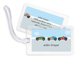 Race Cars Bag Tags Set