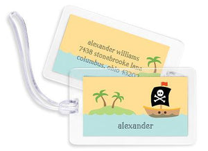 Pirate Bag Tags Set