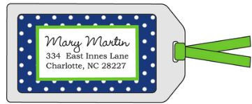 Dottie Navy Bag Tag