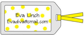 Polka Dot Yellow Bag Tag