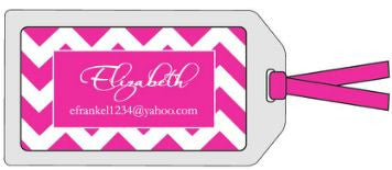 Hot Pink Zig Zag Bag Tag