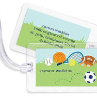 Personalized Sports Boy  Bag Tags Set