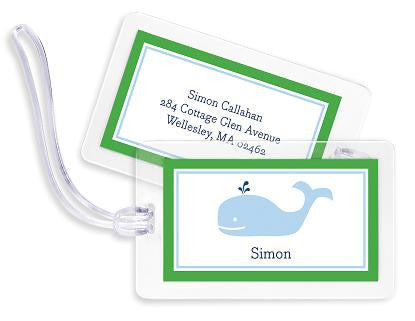 Whale Bag Tags Set