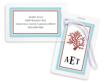 Coral Bag Tags Set