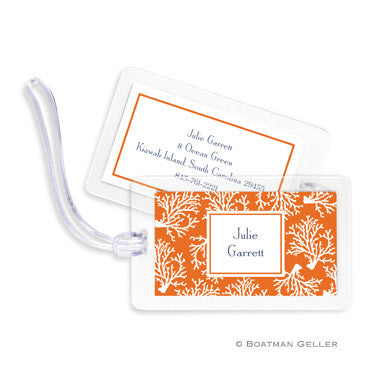 Coral Repeat Bag Tags Set