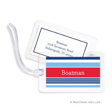 Espadrille Nautical Bag Tags Set