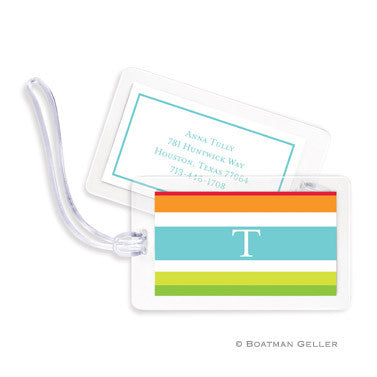 Espadrille Bright Bag Tags Set