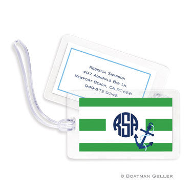 Stripe Anchor Bag Tags Set