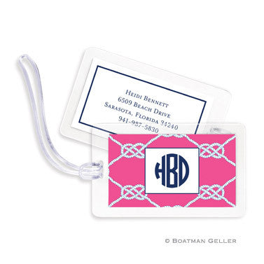 Nautical Knot Raspberry Bag Tags Set