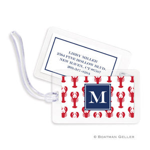 Lobsters Red Bag Tags Set