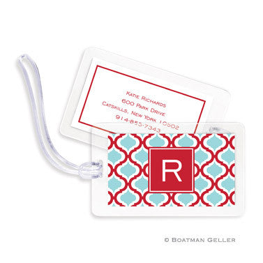 Kate Red & Teal Bag Tags Set