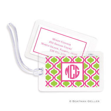 Kate Raspberry & Lime Bag Tags Set