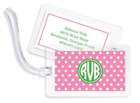 Polka Dot Bag Tags Set