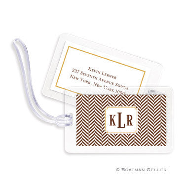 Herringbone Chocolate Bag Tags Set