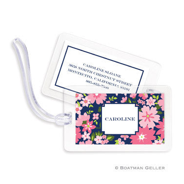 Caroline Floral Pink Bag Tags Set