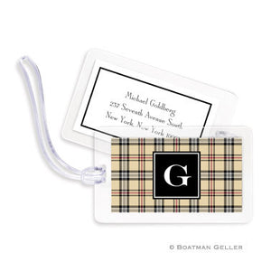 Town Plaid Bag Tags Set