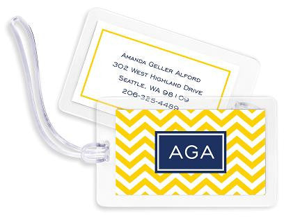 Chevron Bag Tags Set