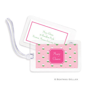 Little Sailboat Pink Bag Tags Set