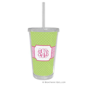 Greek Key Band Beverage Tumbler
