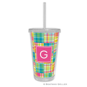 Madras Patch Bright Beverage Tumbler