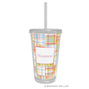 Madras Patch Beverage Tumbler